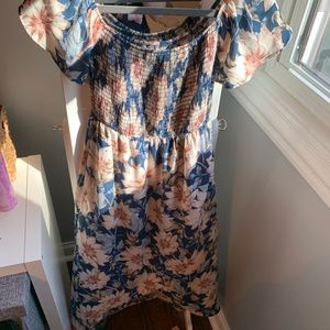 Pink Blush Maternity blue floral dress never worn